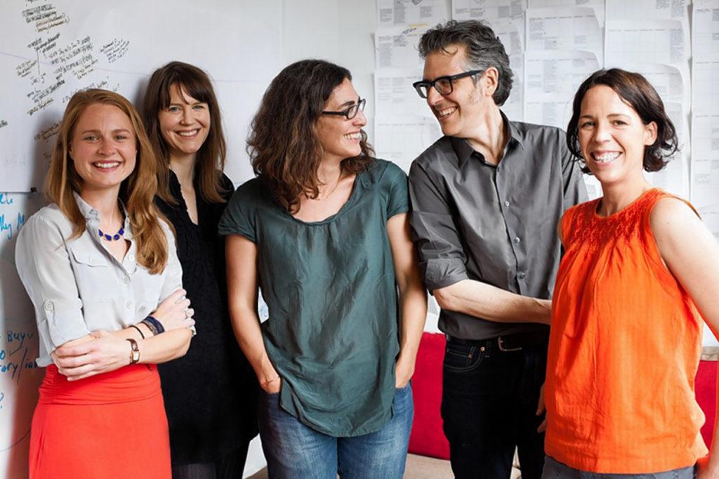 Dana Chivvis, Emily Condon, Sarah Koenig, Ira Glass and Julie Synder of Serial, Meredith Heuer