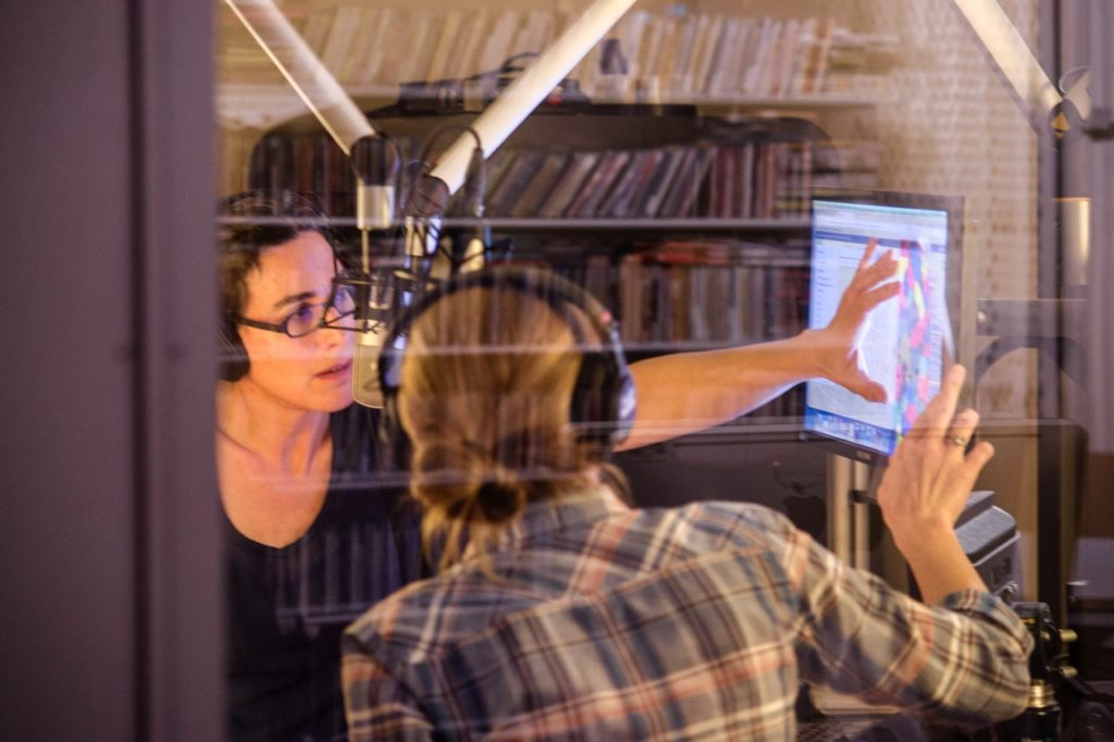 Sarah Koenig and producer Dana Chivvis in the studio Elise Bergerson WSJ